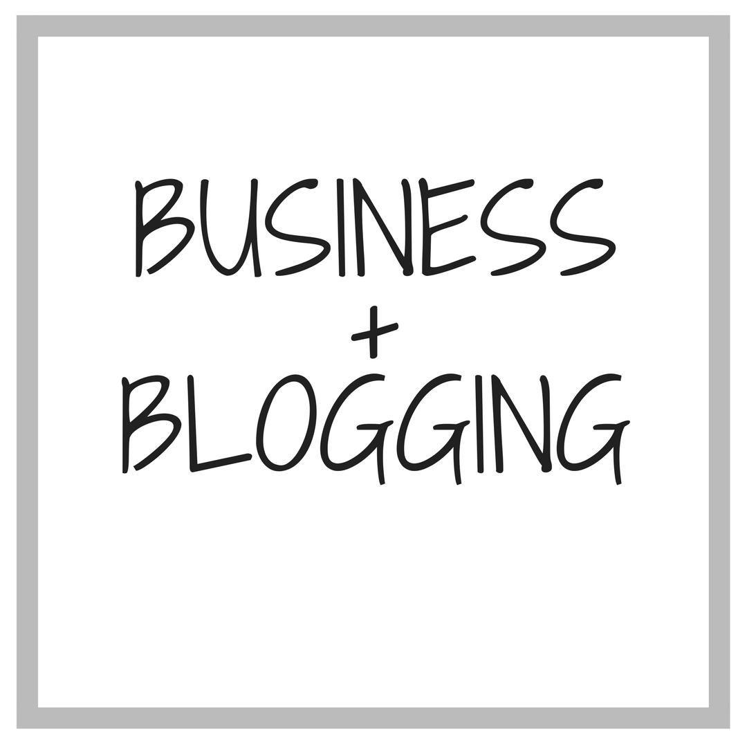 business and blogging