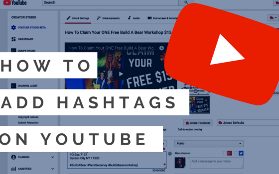 How To Add Searchable Hashtags To YouTube Videos