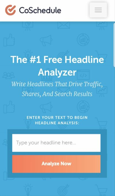 The headline analyzer is one of the free tools Coschedule offers.