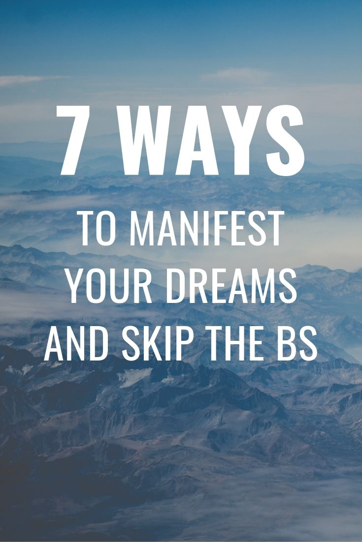 You can manifest your dreams! You have to believe in them and work to achieve them and you will attract them to you!